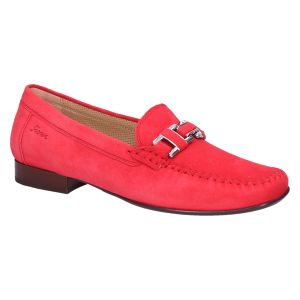 Cambria Mocassin fire/rood suede