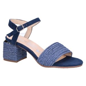 7.92.10 Sandaal blauw vlecht 6 cm