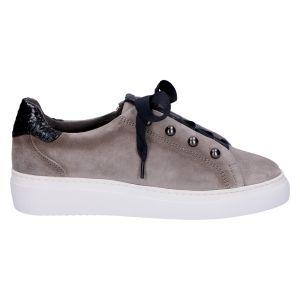 8.39.05 Sneaker grijs/zwart suede