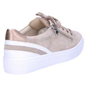 37029 Hazel Sneaker taupe /wit suede