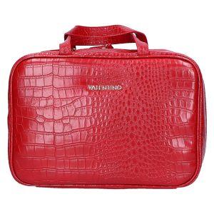 Grote Cosmetic Case rood kroko 27x19x10 cm
