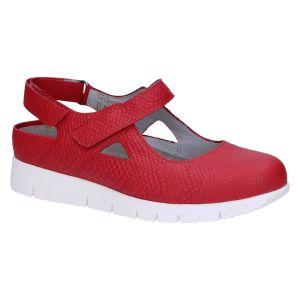 0353 Evelien Slingback klitteband rood