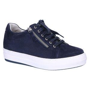 1327 Anna Sneaker blauw suede