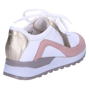 364037 Hiroko Sneaker wit/rose/goud leer