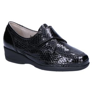 645030 Bea Klitteband zwart krokolak