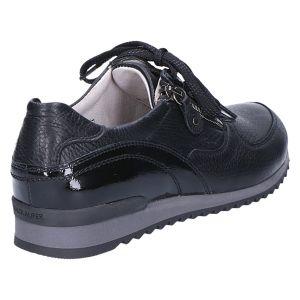 370022 Hurly Sneaker zwart hirsch/lak