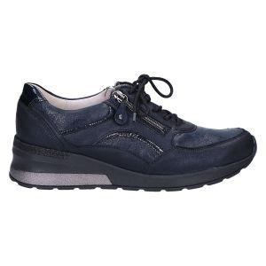939011 H Clara Sneaker sleehak blauw
