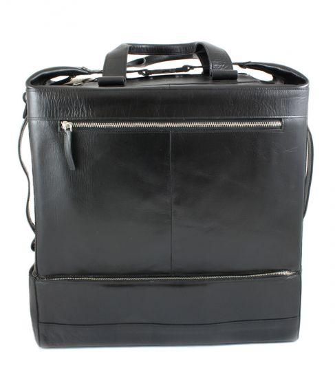 Casette Weekender black leather