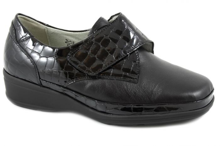 Moni Klitteband zwart leer kroko