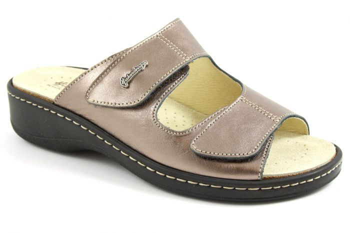 Bronze metallic slipper H